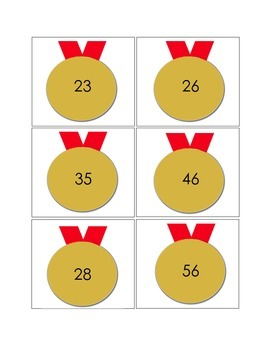 Gold Medal Addition and Subtraction Concentration: Math with Regrouping Game