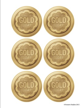 Gold Medals for Great Behavior