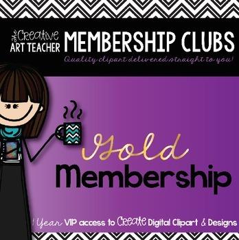 Gold Membership Club - Digital Clipart