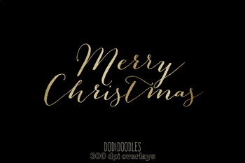 Gold Merry Christmas Clipart, Christmas Overlays