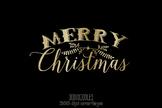 Gold Merry Christmas Clipart, Christmas Overlays