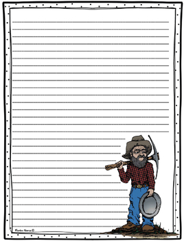 {Freebie} Gold Miner Writing Paper