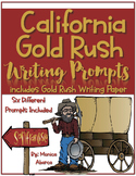 California Gold Rush Writing Prompts & Gold Rush Themed Writing Paper