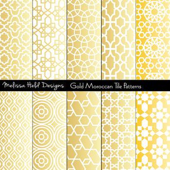 Gold Moroccan Tile Patterns