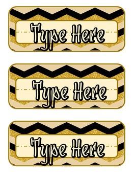Gold N' Onyx Name Slates