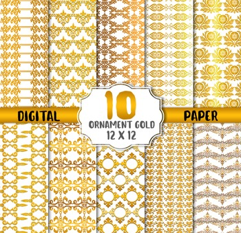 Gold Ornament Digital Paper