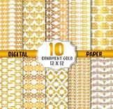 Gold Ornament Digital Paper