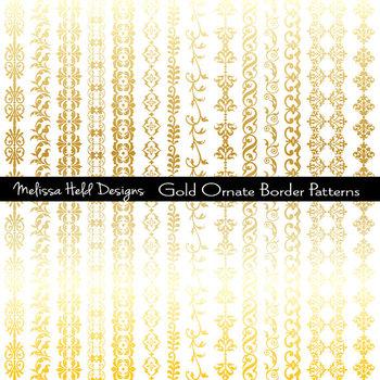 Clipart: Gold Ornate Borders Clipart