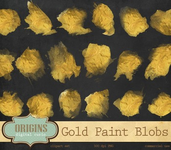 Gold Paint gold foil watercolor watercolour ink spots circles overlays