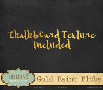 Gold Paint gold foil watercolor watercolour ink spots circles overlays