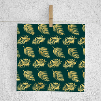 Gold Palm Leaves Backgrounds