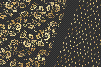 Gold Pattern Overlays