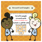 Gold Pattern Reward Cards - Sample Set