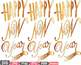 Gold Props Happy New Year 2018 clipart Party Photo Booth hat lips halloween -9p