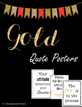 Gold Quotes Posters