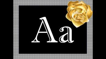 Gold Rose Alphabet Decor