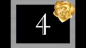 Gold Rose Number Decor