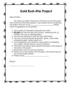 Gold Rush 49er Family Project