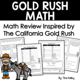 Gold Rush Activities - Math Word Problems