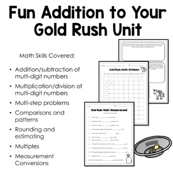 Gold Rush Activities - Math Word Problems