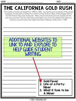Gold Rush Activity: Internet Scavenger Hunt