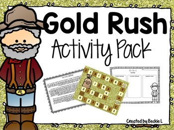 Gold Rush Activity Pack