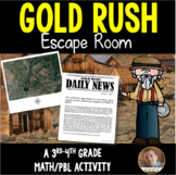 Gold Rush: Classroom Escape Room for Grades 3-4