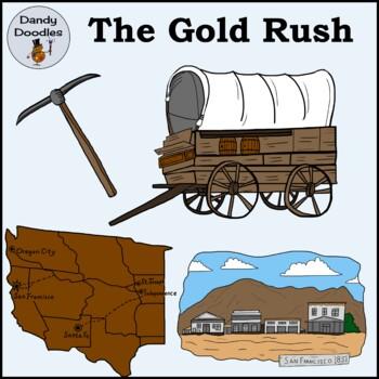 Gold Rush Clip Art by Dandy Doodles