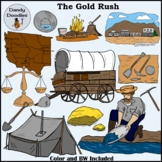 Gold Rush Clip Art by Dandy Doodles