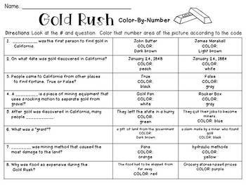 Gold Rush Color-By-Number
