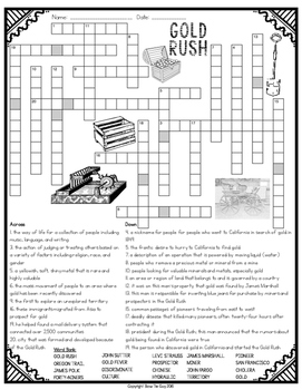 Gold Rush Crossword