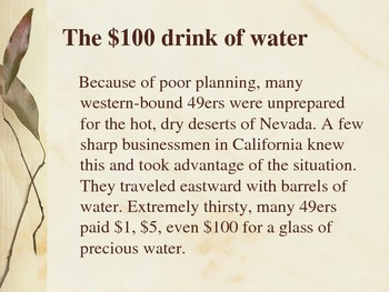 Gold Rush Fun Facts Power Point