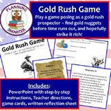 Gold Rush Game featuring a real hunt for gold nuggets and