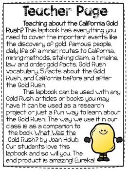Gold Rush Lapbook