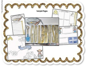 Gold Rush Layered Word Book - Inquiry Project