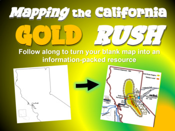 Gold Rush Map Activity: Fun, engaging follow-along 25-slide PPT
