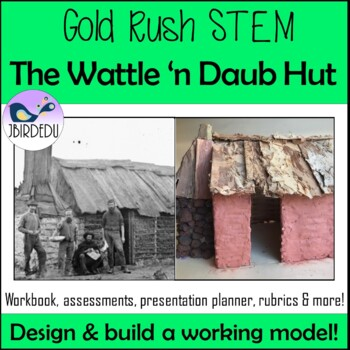 Gold Rush Stem Wattle And Daub Hut Colonial Australia By Jbirdedu