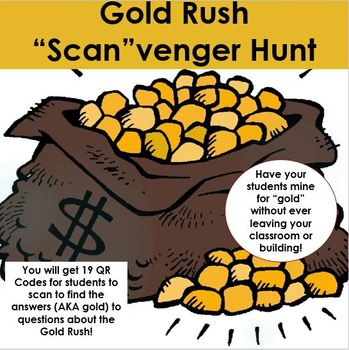 "Gold Rush ""Scan""venger Hunt - Using QR Codes"