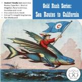 California Gold Rush Sea Routes
