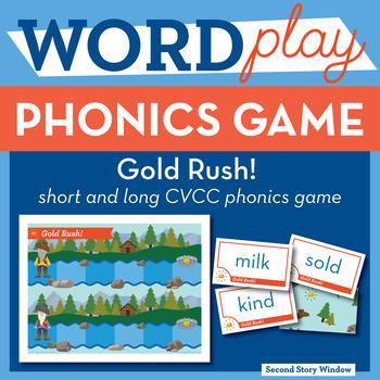 Gold Rush Short and Long CVCC Phonics Game