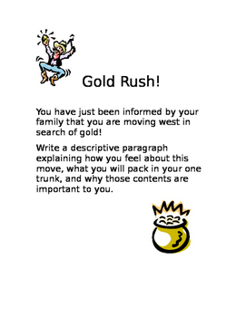 Gold Rush Writing Prompt