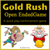 Speech Therapy Activities Open Ended Game Gold Rush
