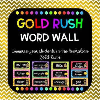 Gold Rush word wall
