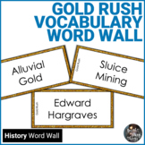 Gold Rush Vocabulary Word Wall Cards