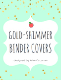 Gold-Shimmer Binder Covers