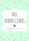 Gold-Shimmer Binder Covers FREEBIE