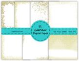 Gold - Silver Digital Paper set