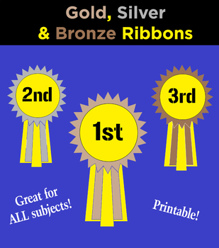 Gold, Silver and Bronze Ribbons