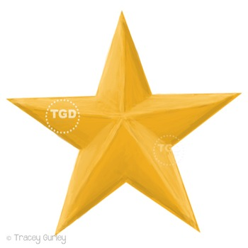 Gold Star Clip Art - Gold Star Graphic Printable Tracey Gu