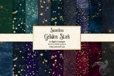 Gold Star Digital Paper - seamless textured pattern backgrounds